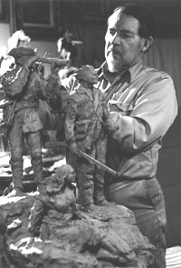 A sculpture was made of Liver Eatin' Johnston by Bob Scriver 1967